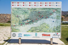 Mappa di informazioni di Hierapolis Fotografia Stock