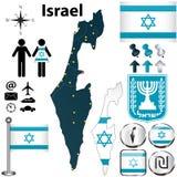 Mappa di Israele Immagine Stock Libera da Diritti
