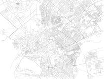 Mappa di Karachi, Pakistan Vista della via l'asia Fotografie Stock Libere da Diritti