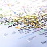 Mappa di Los Angeles-area Fotografia Stock