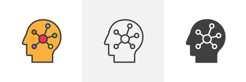 Mappa di mente nell'icona capa umana royalty illustrazione gratis