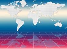 Mappa di mondo Fotografie Stock