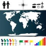Mappa di mondo Fotografie Stock Libere da Diritti