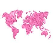 MAPPA DI MONDO illustrazione vettoriale