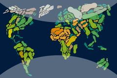 Mappa di mondo immagine stock libera da diritti
