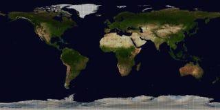 Mappa di mondo astratta del pois Fotografia Stock