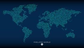 Mappa di mondo astratta di vettore Immagini Stock