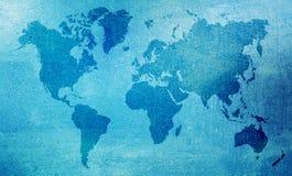 Mappa di mondo bagnata Immagini Stock Libere da Diritti