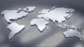 Mappa di mondo bianca Fotografia Stock Libera da Diritti