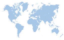 Mappa di mondo blu con divisione di paese - vettore Immagini Stock