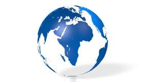 mappa di mondo blu del globo della terra 3D illustrazione di stock