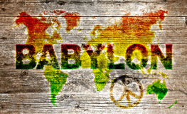 Mappa di mondo colorata di lerciume Fotografia Stock Libera da Diritti