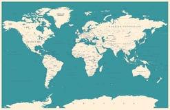 Mappa di mondo d'annata ed indicatori - illustrazione Fotografia Stock Libera da Diritti