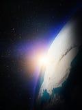 Mappa di mondo da spazio Fotografie Stock Libere da Diritti