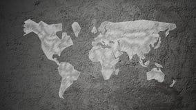 Mappa di mondo del gesso Immagine Stock Libera da Diritti