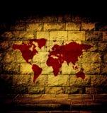Mappa di mondo del sangue Fotografia Stock