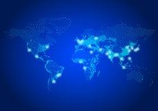 Mappa di mondo della popolazione, vettore Fotografia Stock Libera da Diritti
