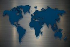 mappa di mondo della rappresentazione 3d su fondo grigio royalty illustrazione gratis