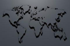 mappa di mondo della rappresentazione 3d su fondo grigio illustrazione vettoriale