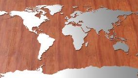 Mappa di mondo di Ciao-tecnologia Fotografia Stock