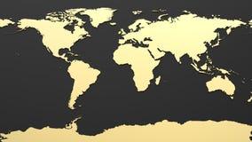 Mappa di mondo di Ciao-tecnologia Fotografie Stock Libere da Diritti