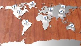 Mappa di mondo di Ciao-tecnologia Immagini Stock
