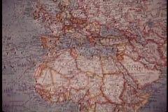 Mappa di mondo di cottura stock footage