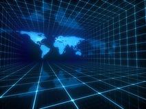 Mappa di mondo di Digital Fotografia Stock