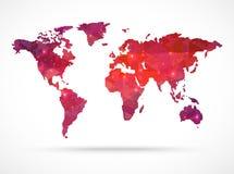 Mappa di mondo di vettore del diamante della scintilla Immagine Stock