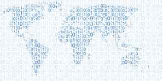 Mappa di mondo, file binario Fotografia Stock