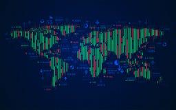 Mappa di mondo di finanza royalty illustrazione gratis