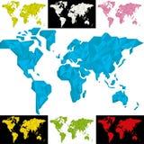Mappa di mondo geometrica Immagini Stock Libere da Diritti