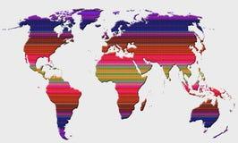Mappa di mondo globale fotografie stock libere da diritti