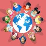 Mappa di mondo globale di globalizzazione Concservation ambientale Conce fotografia stock
