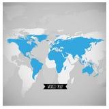Mappa di mondo, illustrazione di vettore Fotografia Stock Libera da Diritti
