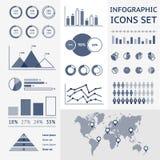 Mappa di mondo infographic Fotografia Stock Libera da Diritti