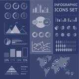 Mappa di mondo infographic Fotografia Stock