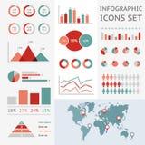 Mappa di mondo infographic Fotografie Stock