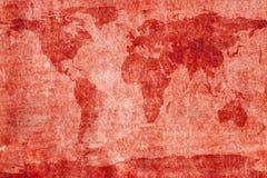 Mappa di mondo invecchiata fotografie stock libere da diritti