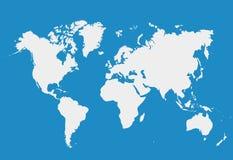 Mappa di mondo isolata su fondo bianco Modello del triangolo per noi Fotografie Stock Libere da Diritti