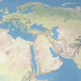 Mappa di mondo, Israele Immagini Stock