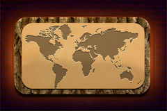 Mappa di mondo pagina Fotografie Stock