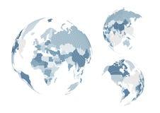Mappa di mondo punteggiata Fotografie Stock Libere da Diritti