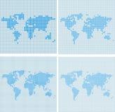 Mappa di mondo di vettore del punto Immagine Stock