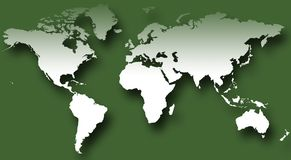 Mappa di mondo VII immagine stock