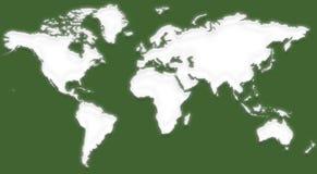 Mappa di mondo VIII fotografia stock libera da diritti