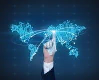 Mappa di mondo virtuale Fotografia Stock