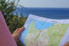 Mappa di Pafos Fotografie Stock
