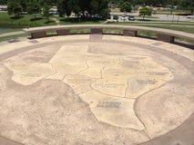 Mappa di pietra del Texas fotografia stock