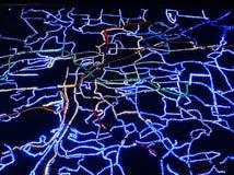 Mappa di Praga Fotografia Stock